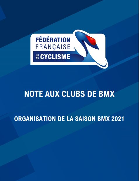 Note aux Clubs BMX 2021