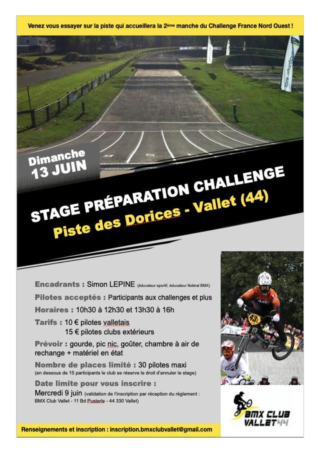 Stage préparation challenge Vallet