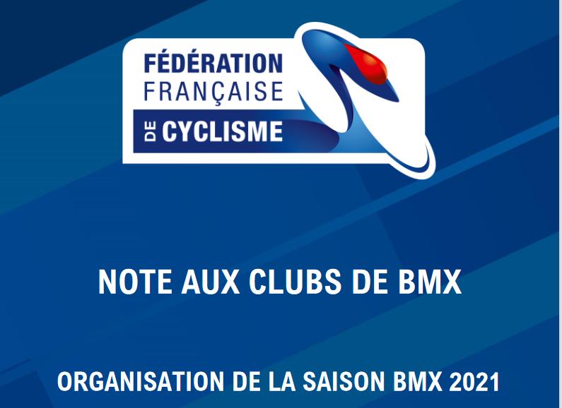 Mise à jour Note aux clubs 2021